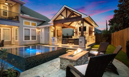 Cypressview Houston Custom Backyard Patio, Pool and Living Area